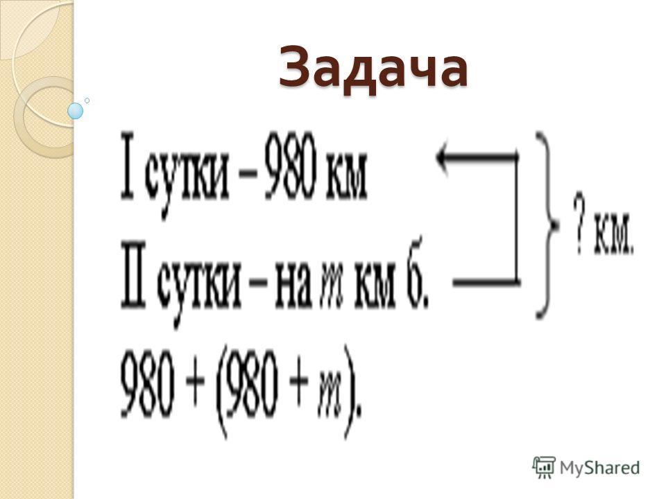 Задача 980 + (980 + m) слагаемое слагаемое