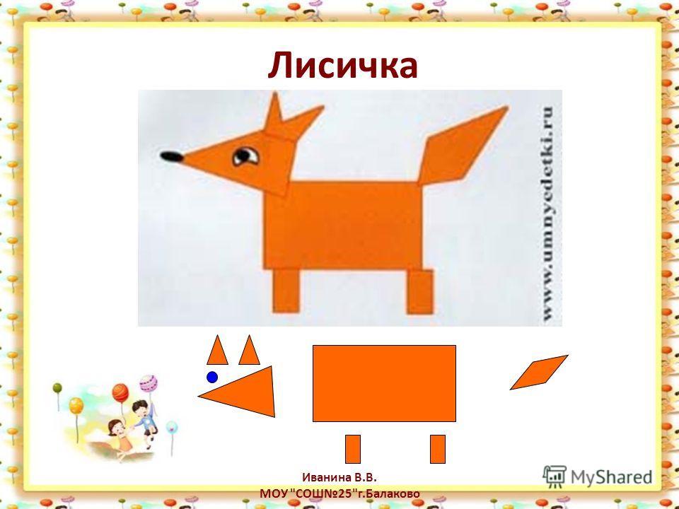 Лисичка Иванина В.В. МОУ СОШ25г.Балаково