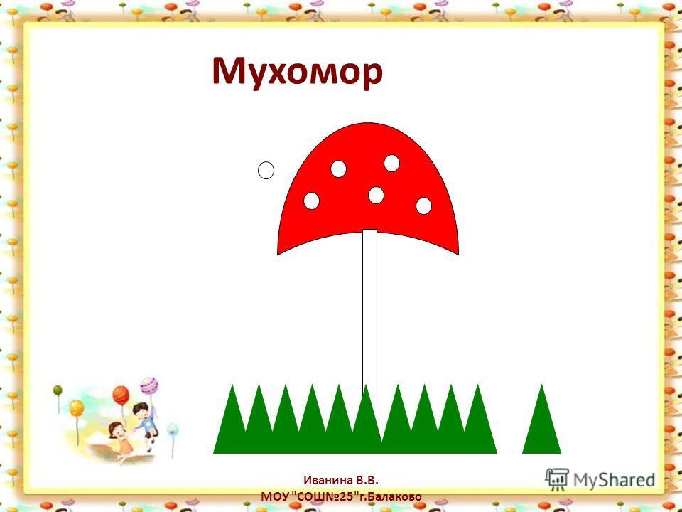 Мухомор Иванина В.В. МОУ СОШ25г.Балаково