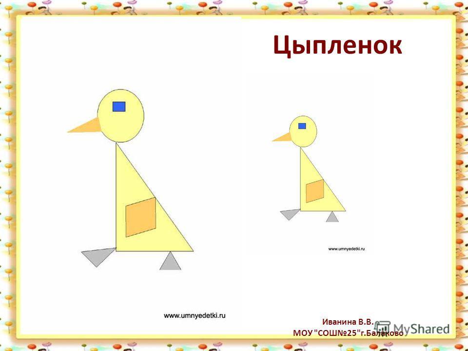 Цыпленок Иванина В.В. МОУ СОШ25г.Балаково