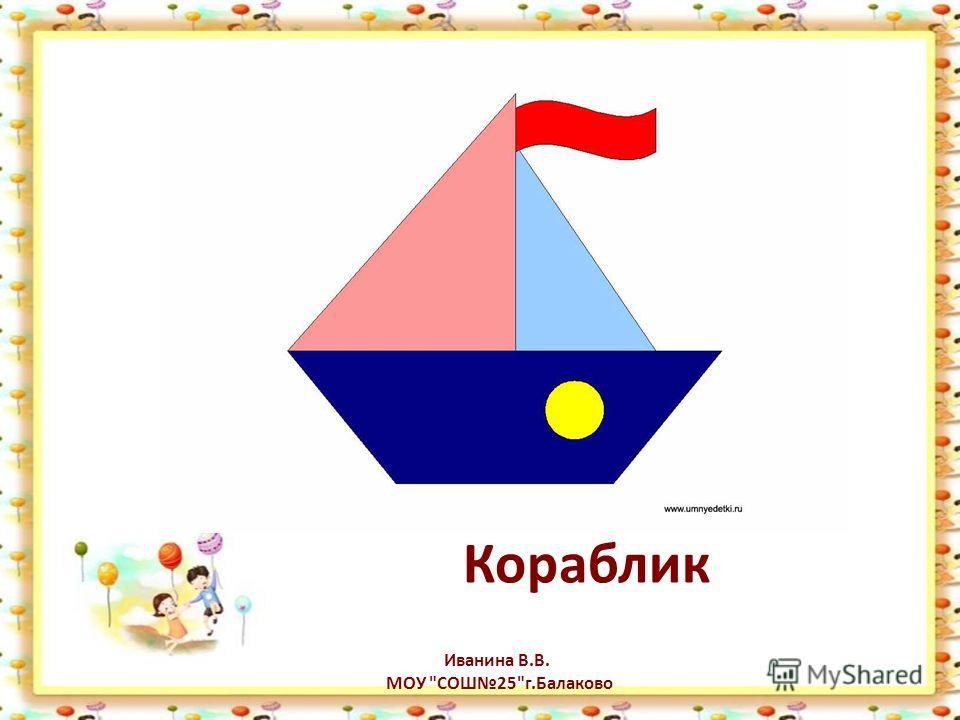 Кораблик Иванина В.В. МОУ СОШ25г.Балаково