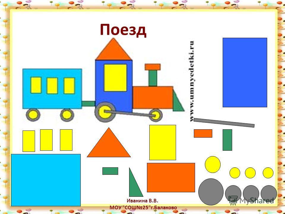Поезд Иванина В.В. МОУ СОШ25г.Балаково