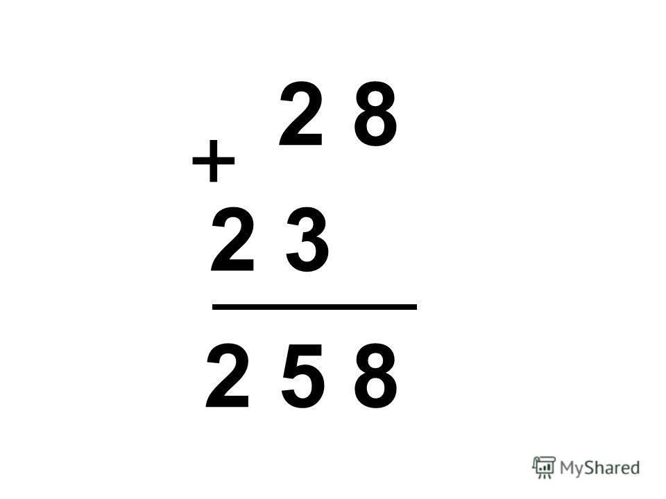 2 8 + 2 3 2 5 8