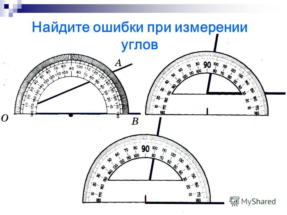 90˚ - 50˚ = 40˚- меньше Подведем итоги: А О В АОВ=50