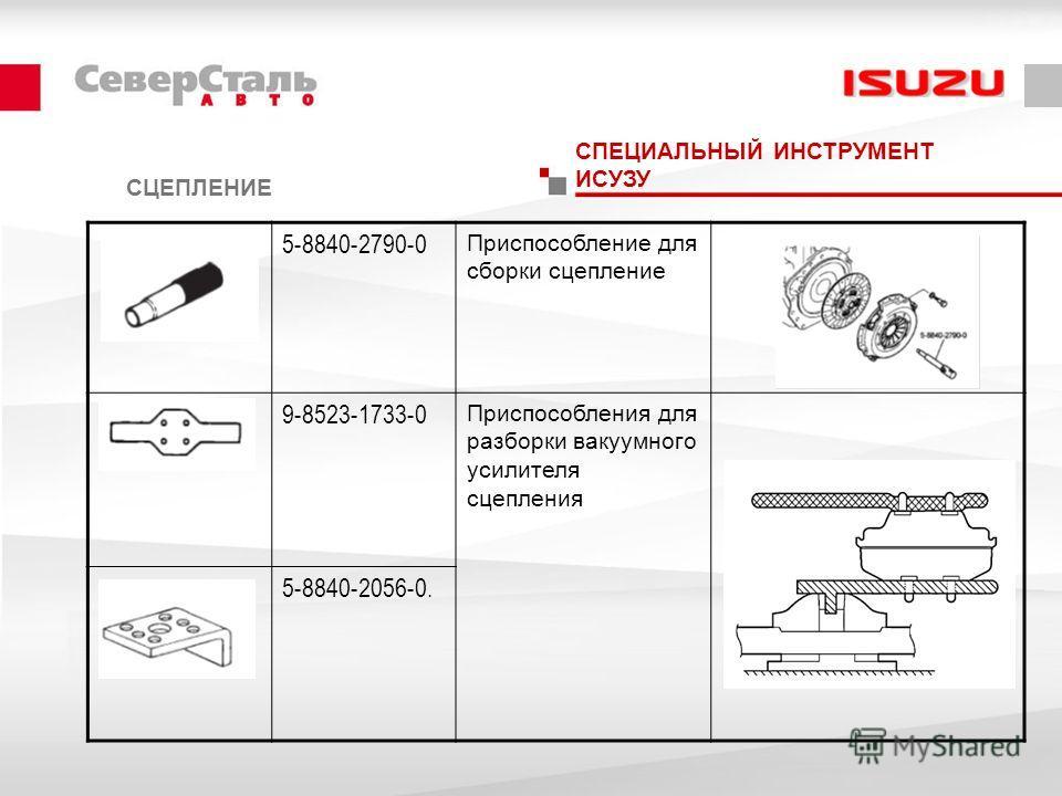 СЦЕПЛЕНИЕ СПЕЦИАЛЬНЫЙ ИНСТРУМЕНТ ИСУЗУ 5-8840-2790-0 Приспособление для сборки сцепление 9-8523-1733-0 Приспособления для разборки вакуумного усилителя сцепления 5-8840-2056-0.