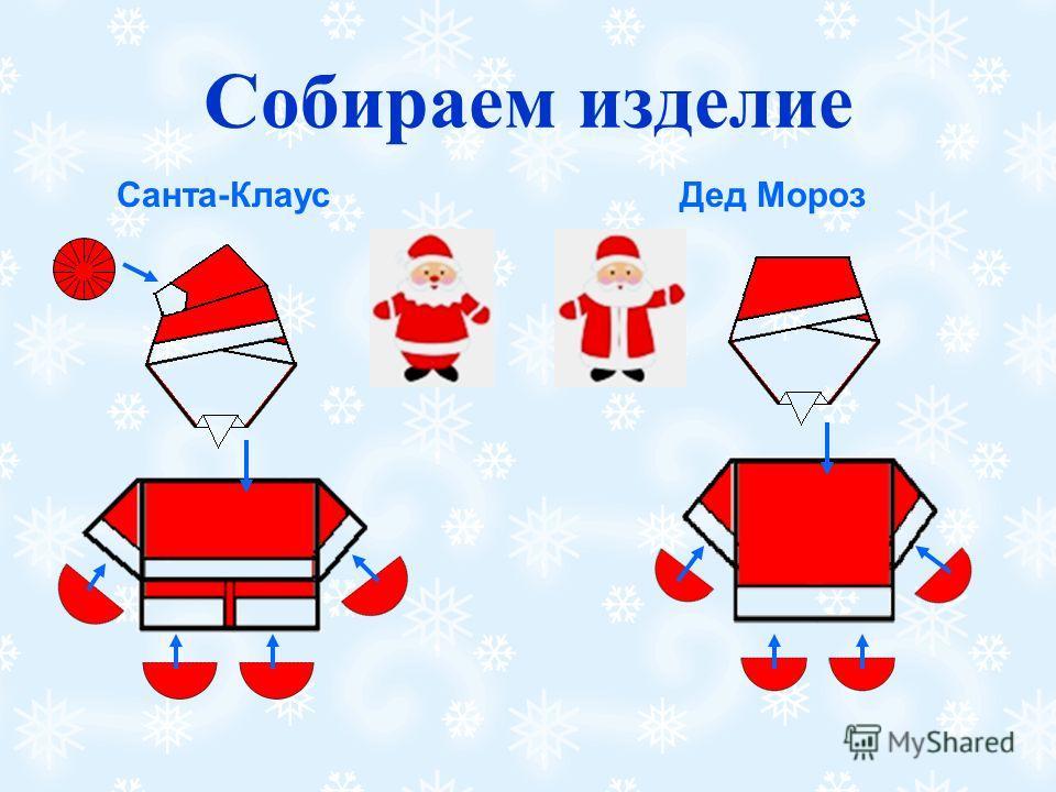 Собираем изделие Санта-Клаус Дед Мороз