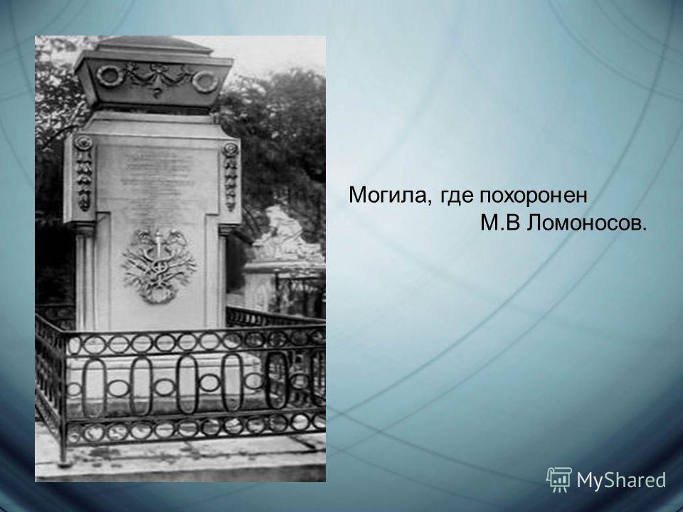 Могила, где похоронен М.В Ломоносов.