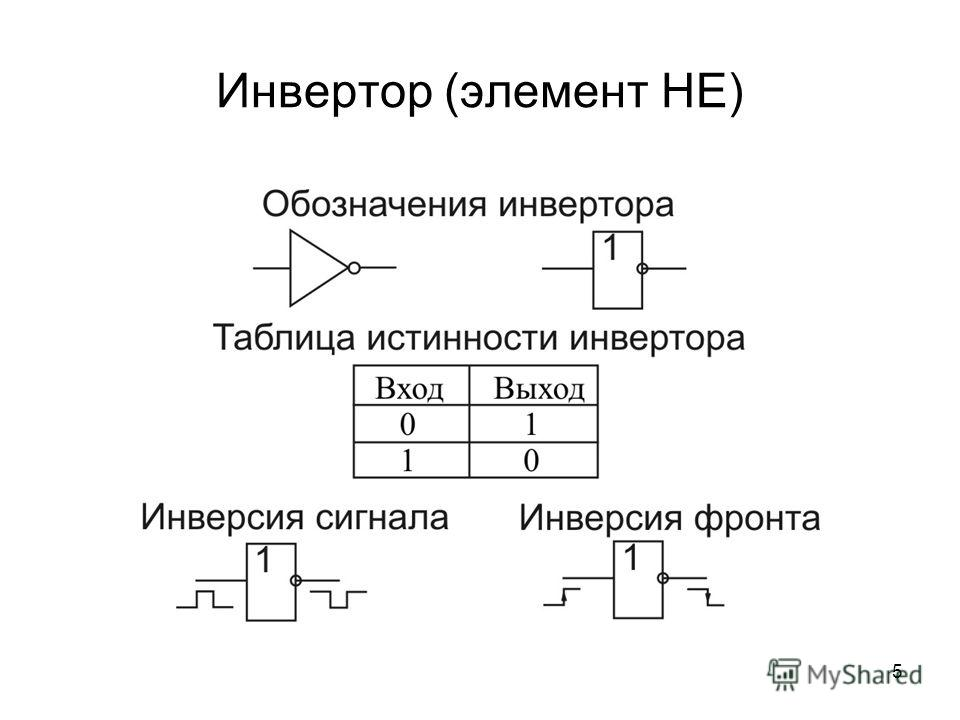 5 Инвертор (элемент НЕ)