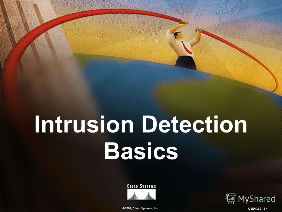 © 2001, Cisco Systems, Inc. CSIDS 2.03-4 Intrusion Detection Basics