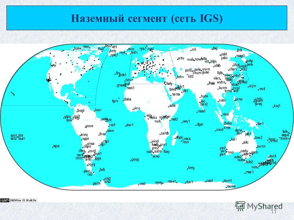 11 Наземный сегмент (сеть IGS)