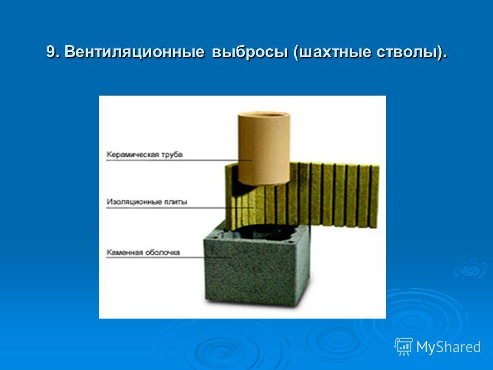 9. Вентиляционные выбросы (шахтные стволы).