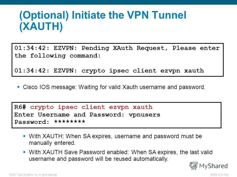 Cisco easy vpn xauth