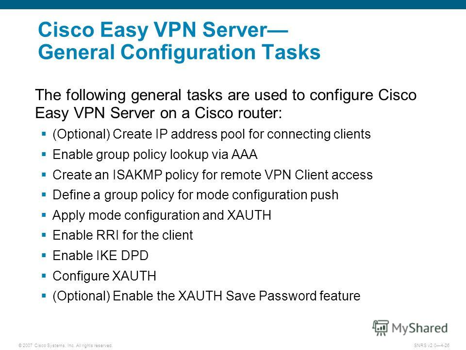 Cisco easy vpn xauth