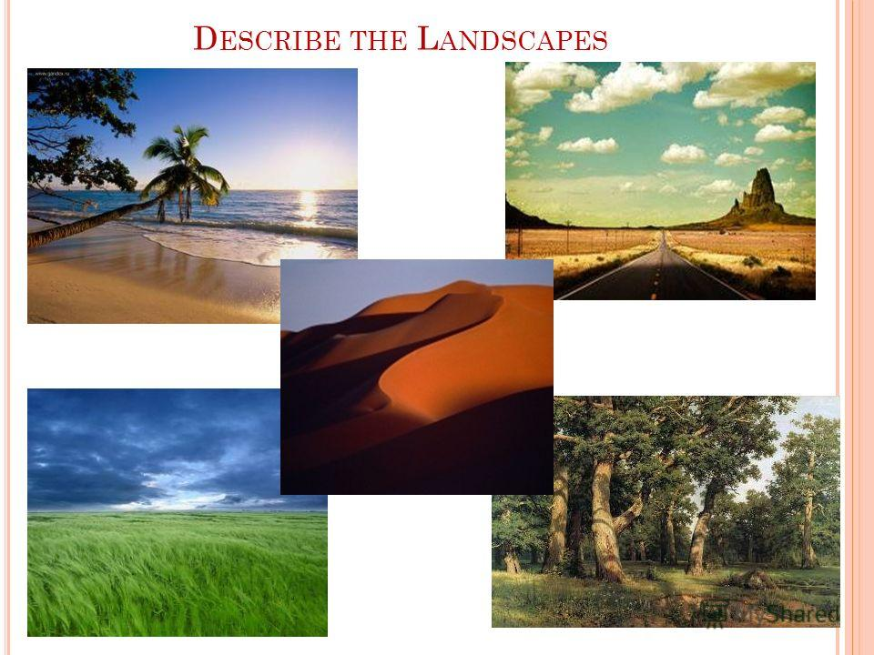 D ESCRIBE THE L ANDSCAPES