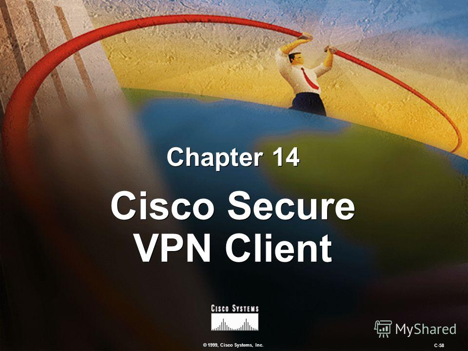 © 1999, Cisco Systems, Inc. C-58 Chapter 14 Cisco Secure VPN Client
