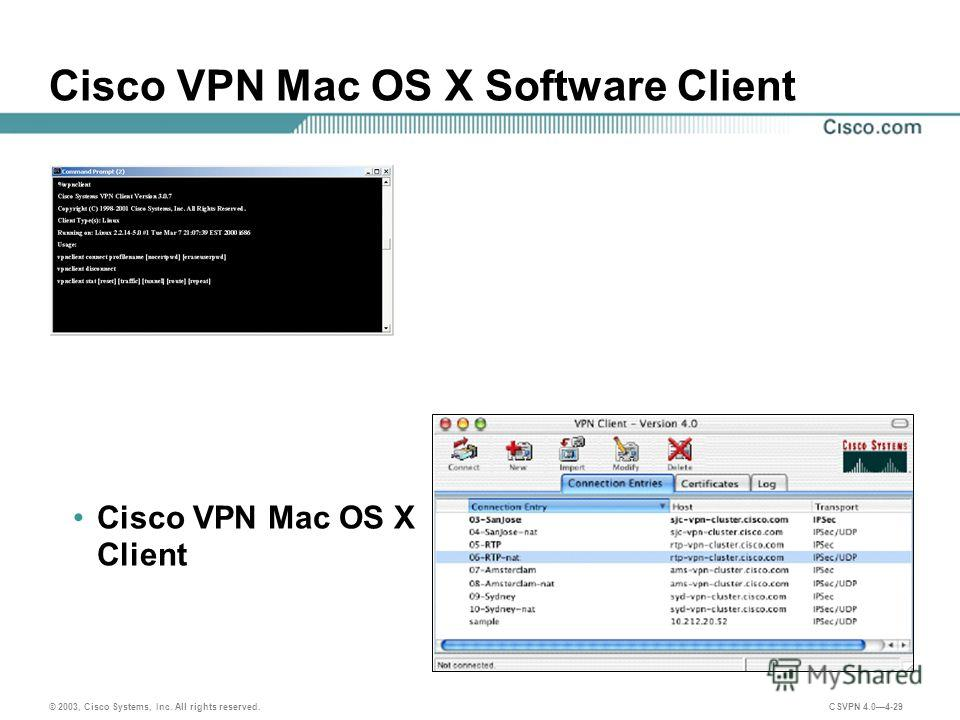 Configuring the native VPN client on macOS