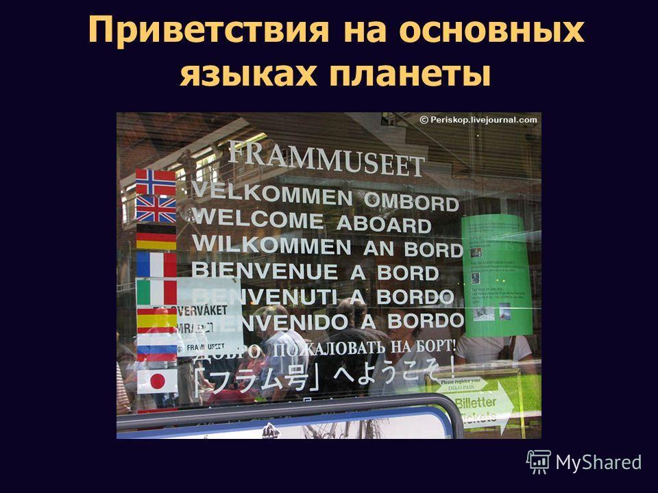 Приветствия на основных языках планеты
