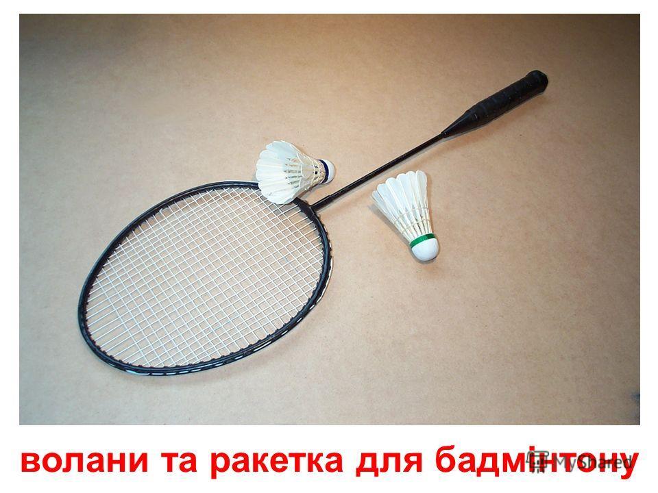 м'яч та ракетки для настільного тенісу