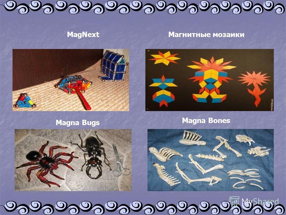 MagNext Магнитные мозаики Magna Bugs Magna Bones