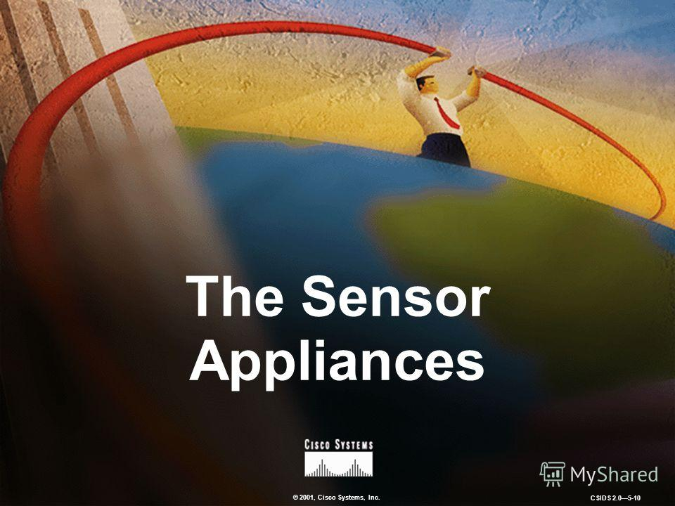 © 2001, Cisco Systems, Inc. CSIDS 2.05-10 The Sensor Appliances