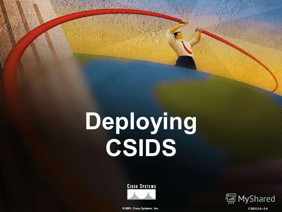 © 2001, Cisco Systems, Inc. CSIDS 2.05-4 Deploying CSIDS