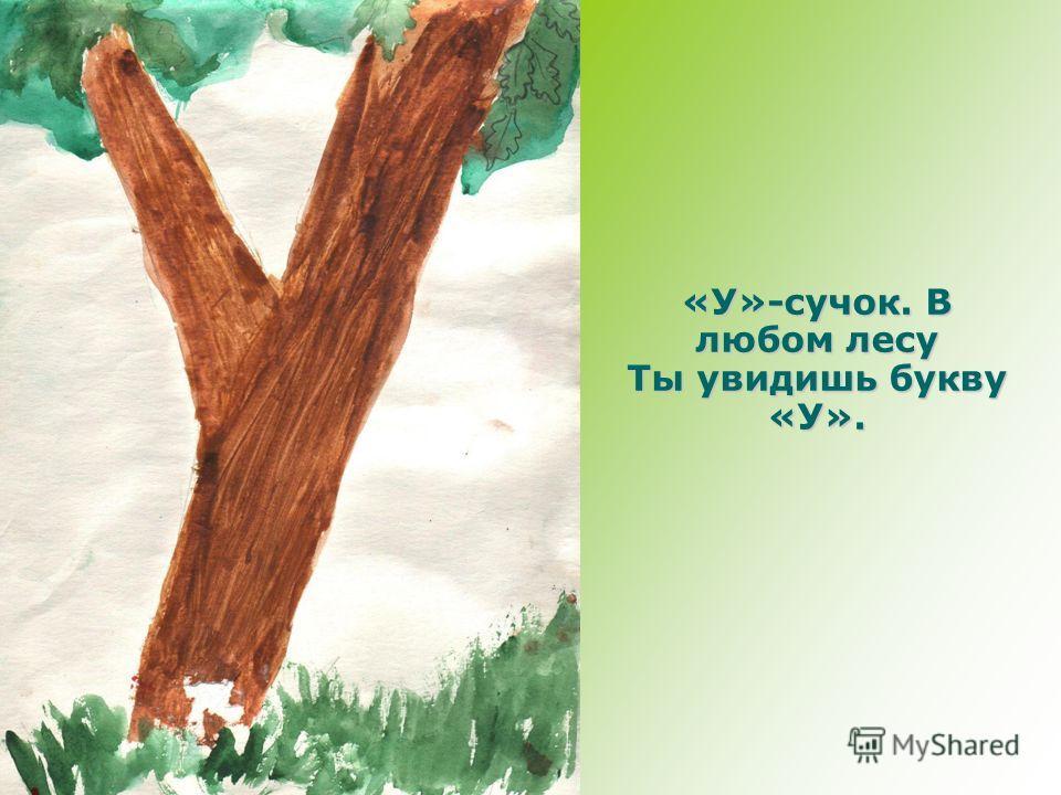 «У»-сучок. В любом лесу Ты увидишь букву «У».