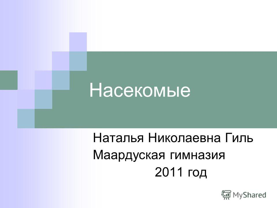 Насекомые Наталья Николаевна Гиль Маардуская гимназия 2011 год