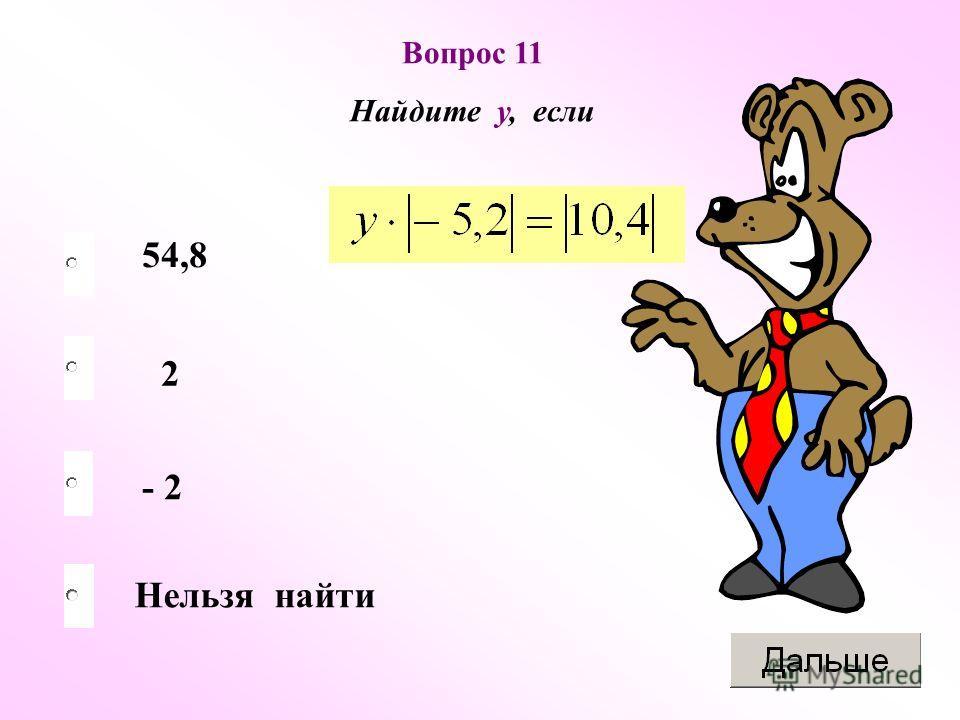 2 - 2 Нельзя найти 54,8 Вопрос 11 Найдите у, если