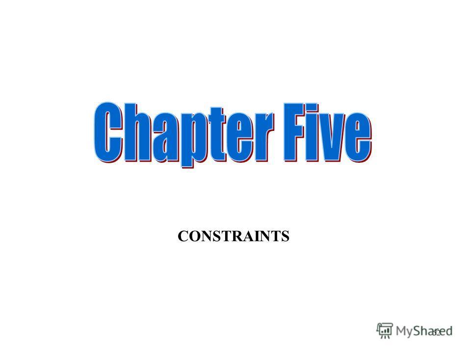 CONSTRAINTS 52