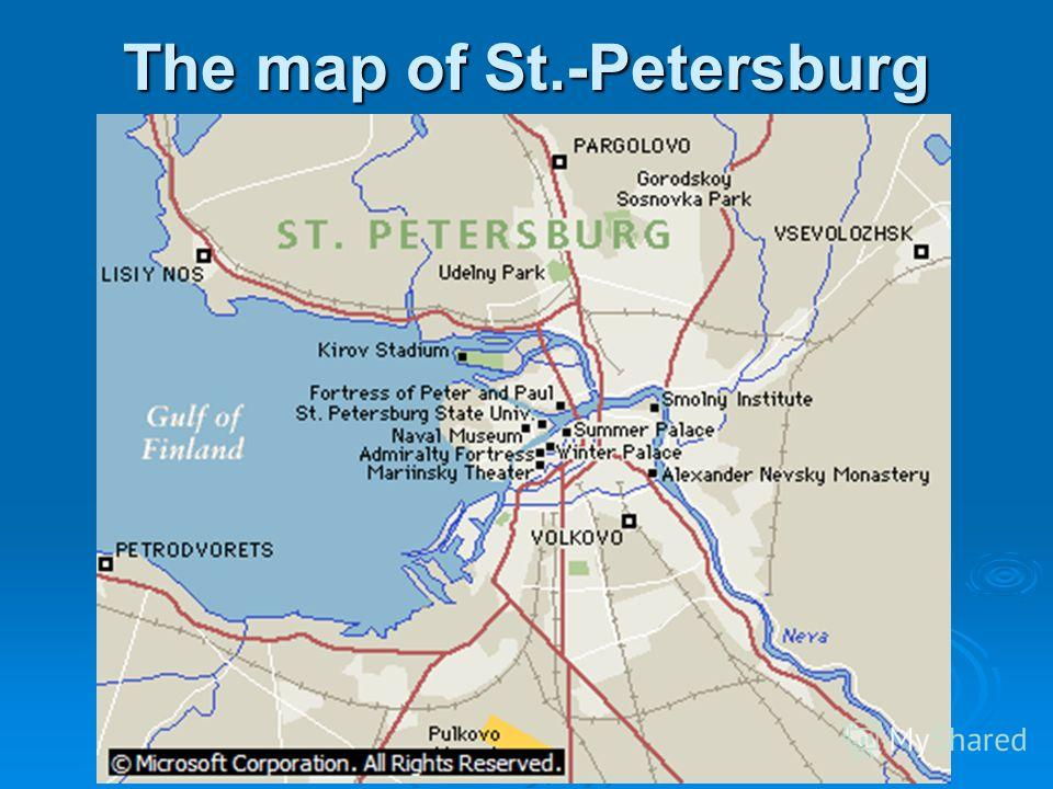 The map of St.-Petersburg