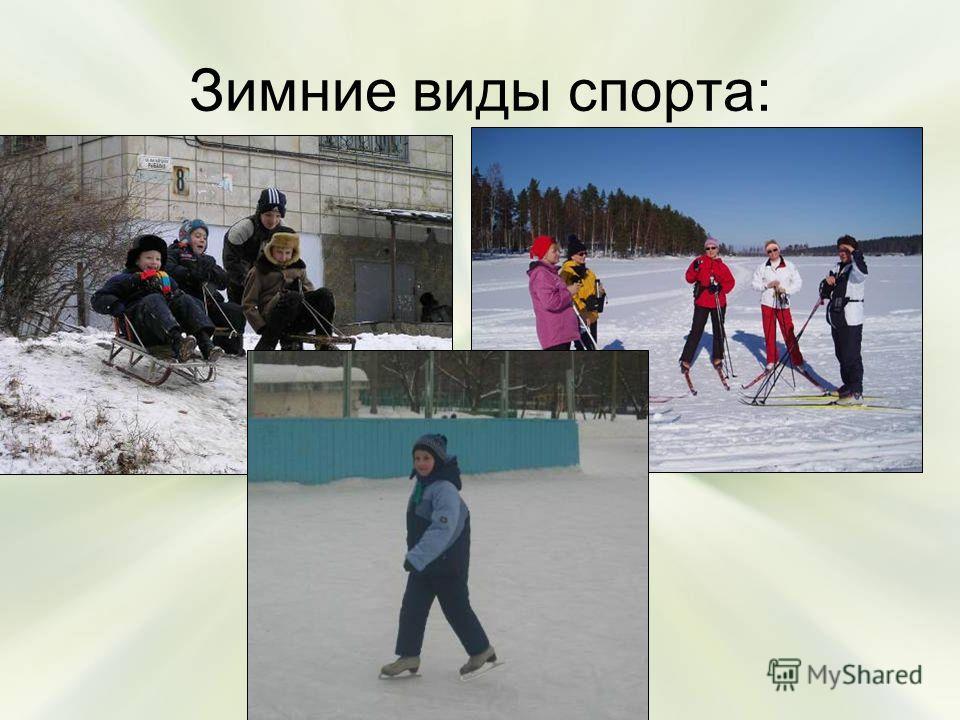 Зимние виды спорта: