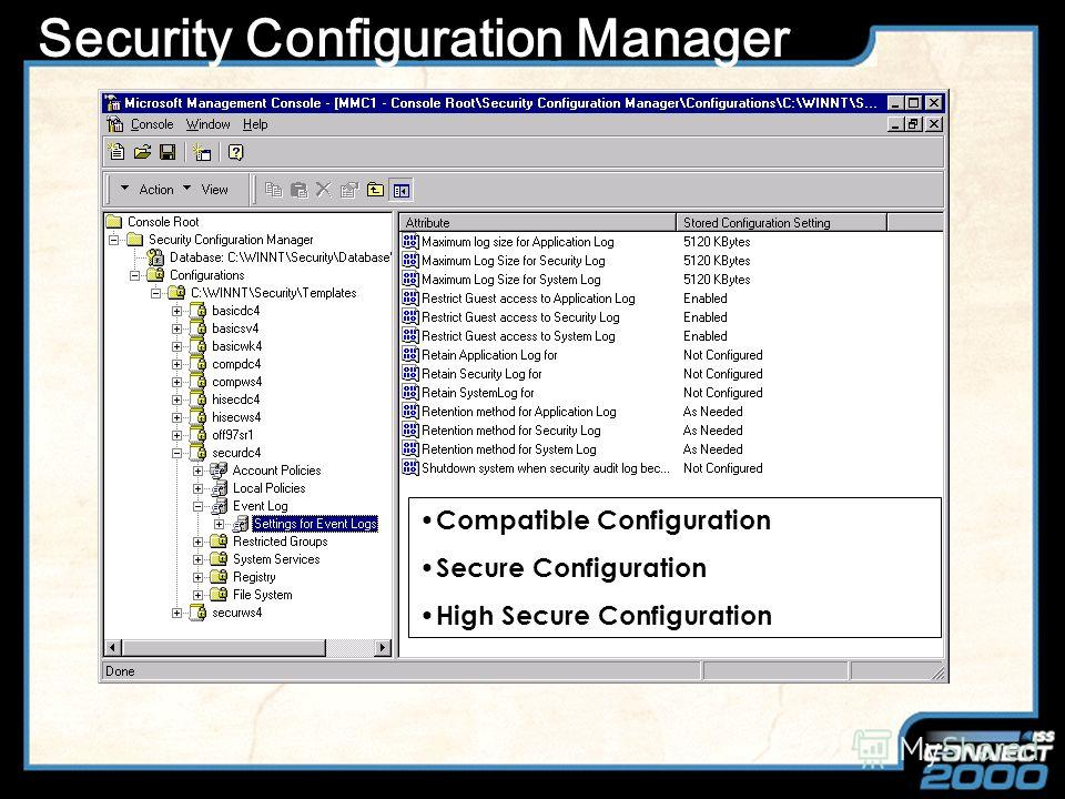 Slide Title Утилиты для настройки C2 Config - Windows NT Resource Kit Security Configuration Manager (SCM) Руководства по настройке NSA Guide Windows NT Security Guidelines