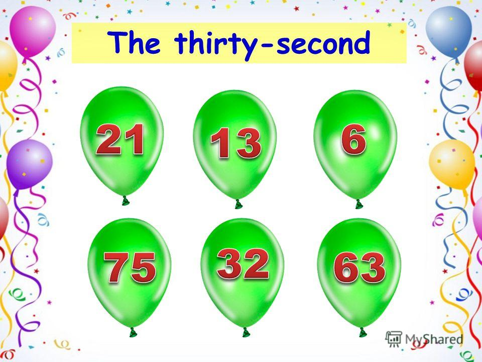 The thirty-second