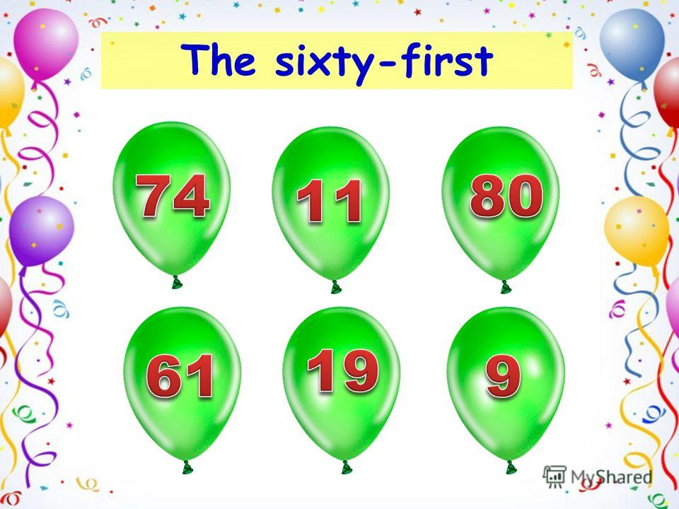 The sixty-first