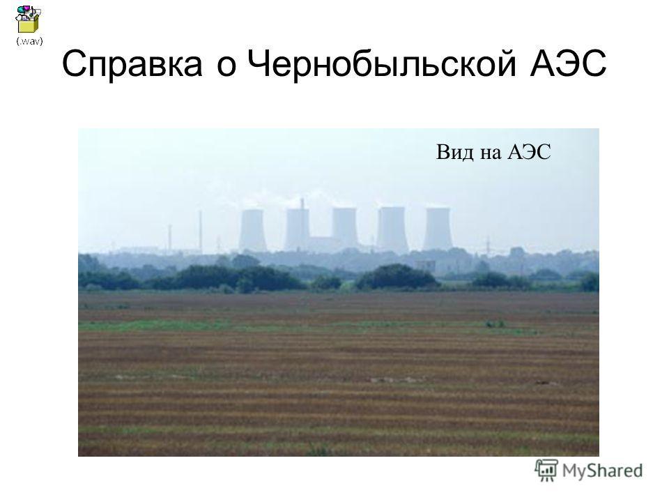 Справка о Чернобыльской АЭС Вид на АЭС