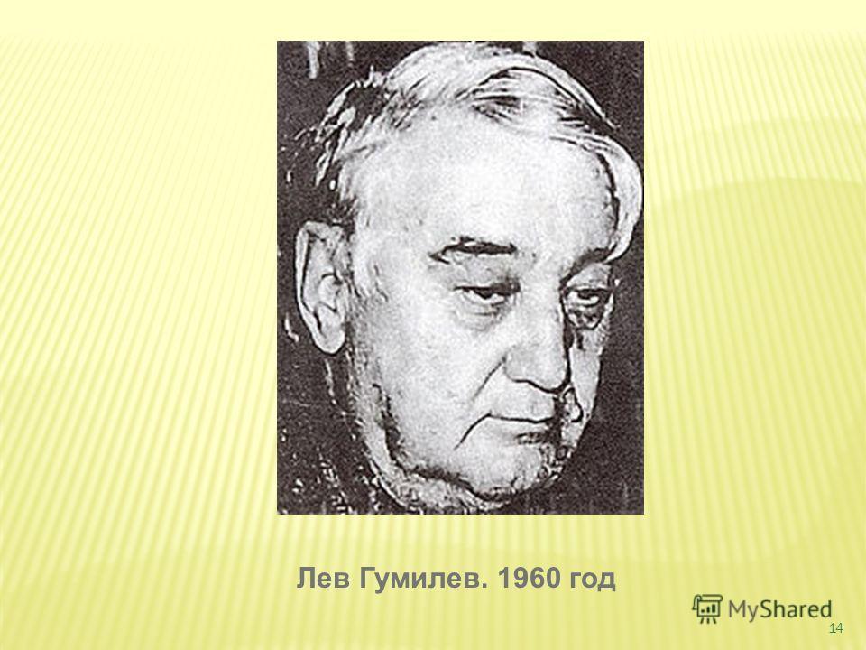 14 Лев Гумилев. 1960 год