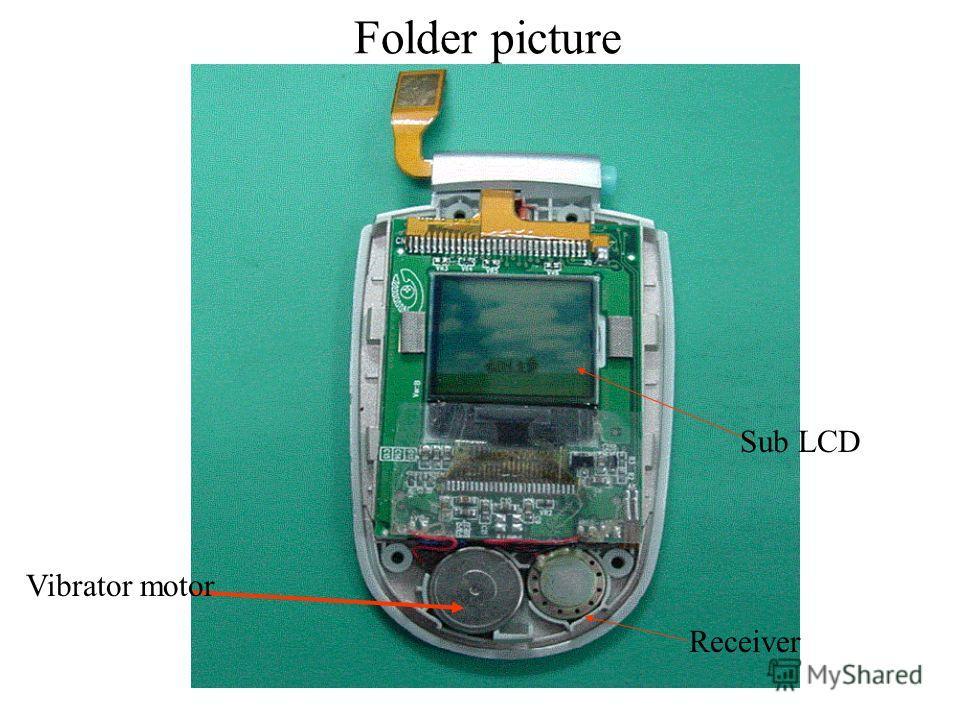 Sub LCD Receiver Vibrator motor Folder picture