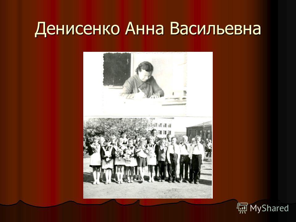 Денисенко Анна Васильевна