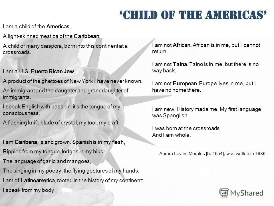child of americas by aurora levins morales