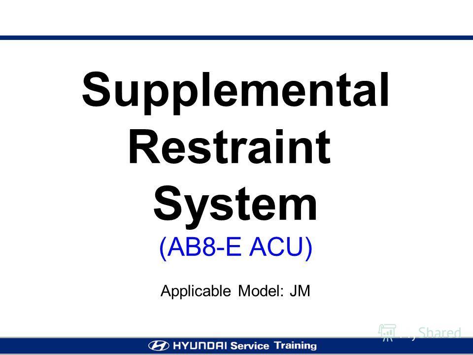 Supplemental Restraint System (AB8-E ACU) Applicable Model: JM