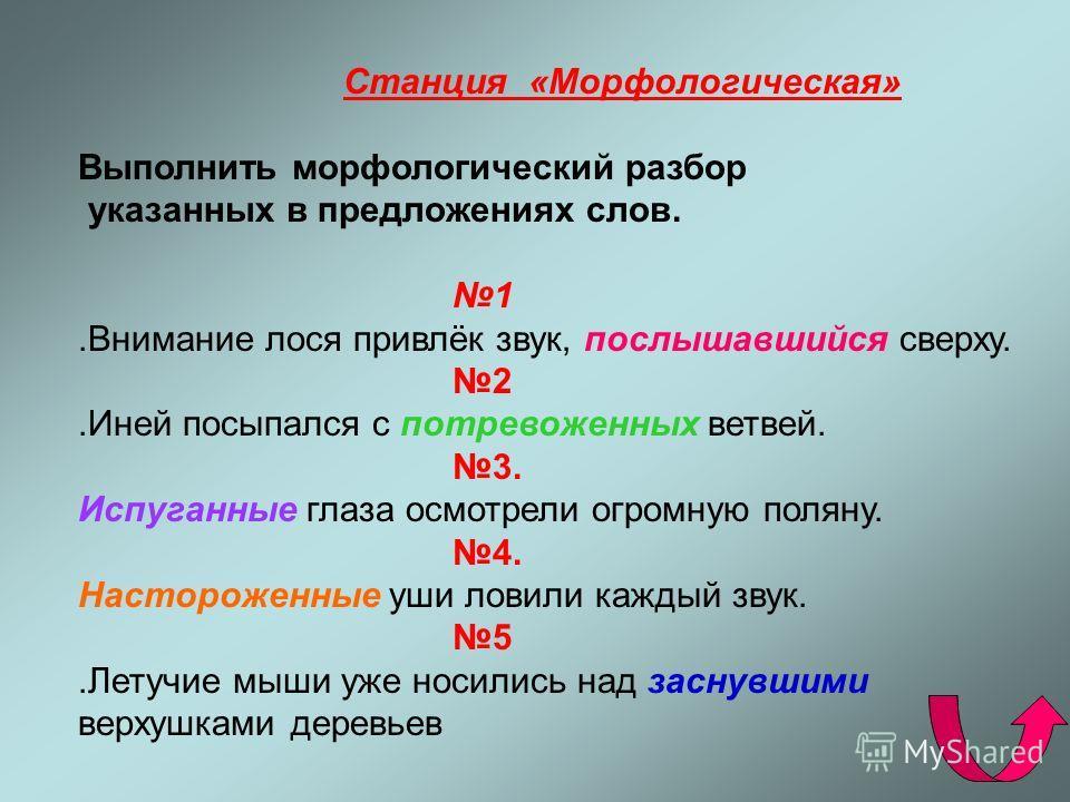 Станция «Морфемная» Выполнить морфемный разбор и словообразовательный анализ следующих слов: 1) неудачно, 2) подберёзовик, 3) земноводный, 4) приморский, 5) старинный.