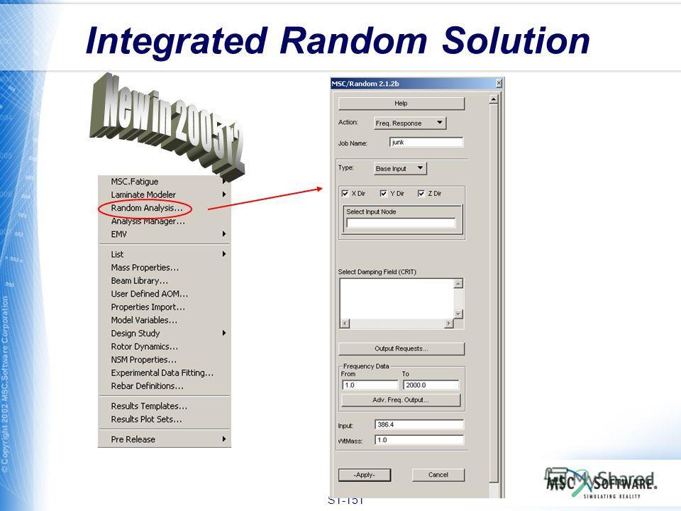 S1-151 Integrated Random Solution