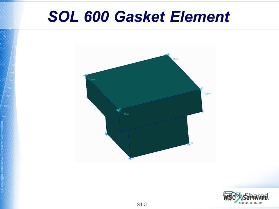 S1-3 SOL 600 Gasket Element
