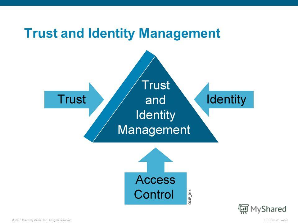 © 2007 Cisco Systems, Inc. All rights reserved.DESGN v2.06-5 Trust and Identity Management