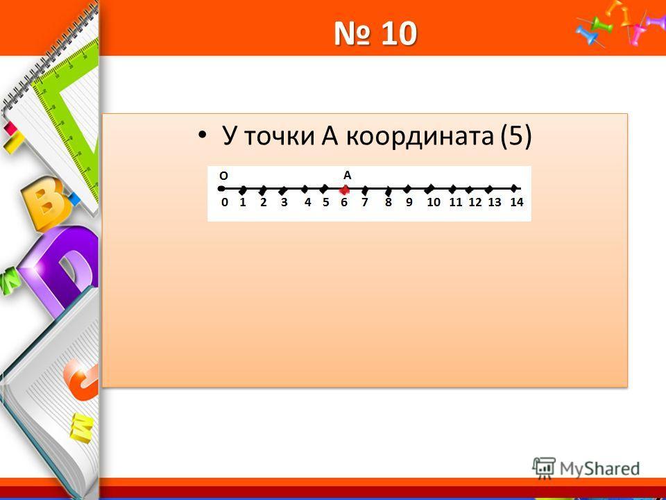 ProPowerPoint.Ru 10 10 У точки А координата (5)