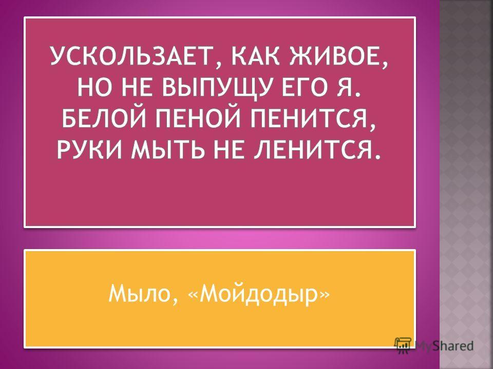 Мыло, «Мойдодыр»