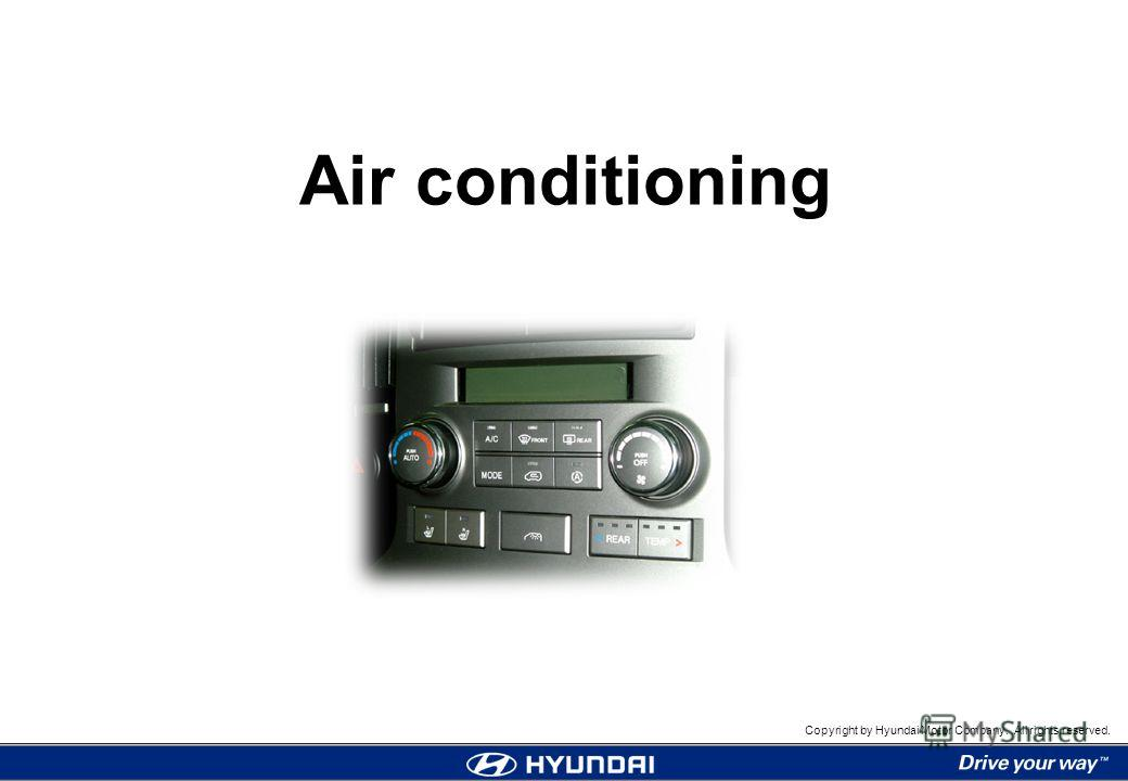 1 Air conditioning Copyright by Hyundai Motor Company. All rights reserved. Air conditioning