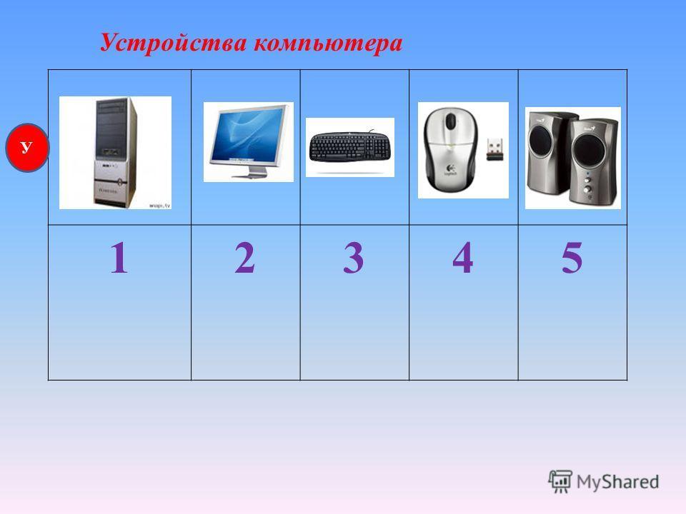 12345 Устройства компьютера У