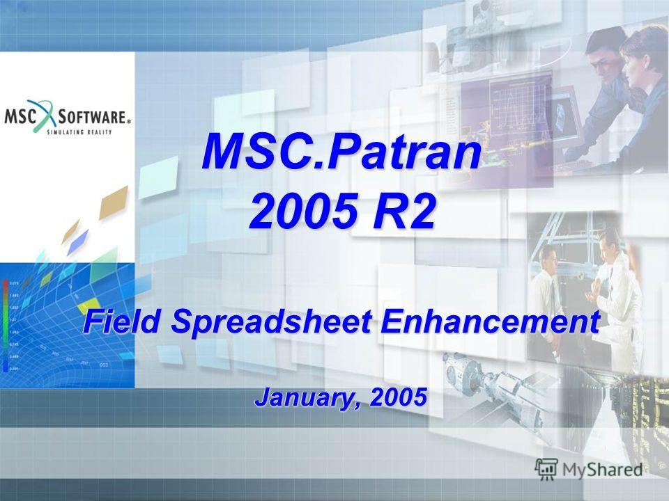 MSC.Patran 2005 R2 Field Spreadsheet Enhancement January, 2005