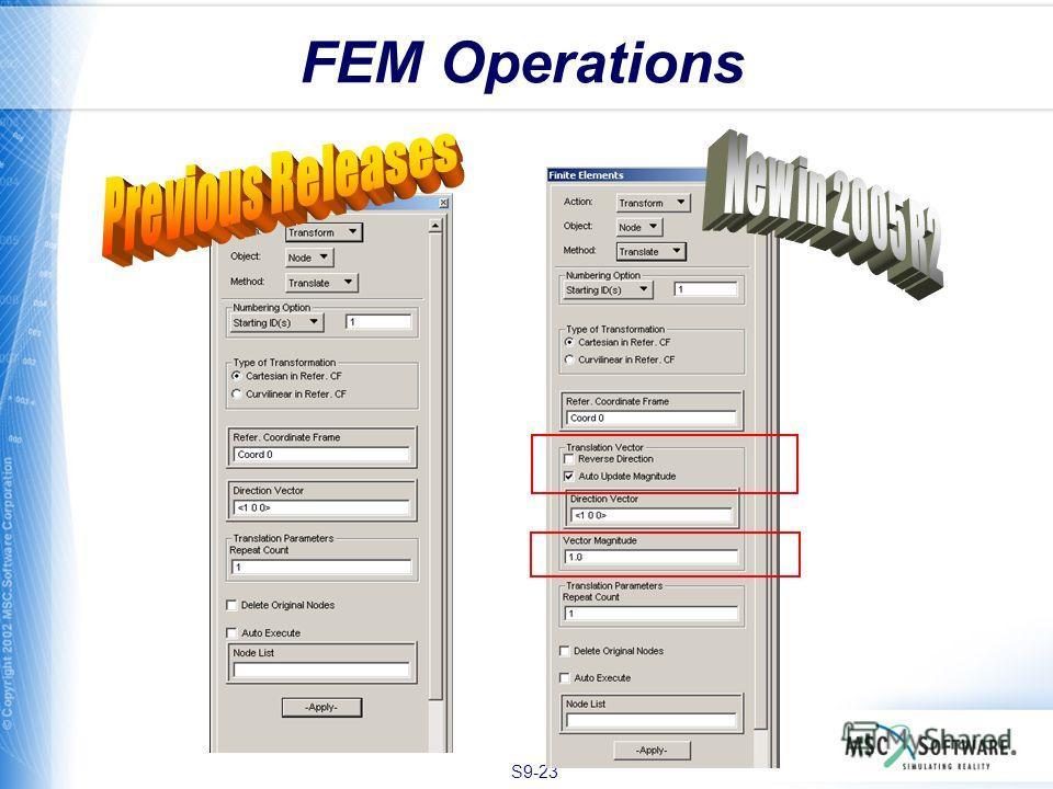 S9-23 FEM Operations